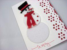 Snowman Christmas Card, Be Merry