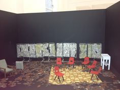 Our model box, set design for #TheKnittingCircle