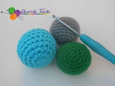 Pelota a crochet (amigurumi) - Crochet ball ENGLISH SUB - YouTube