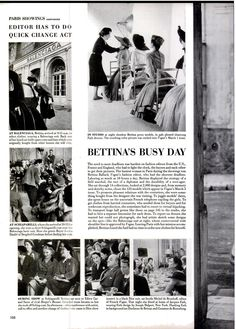 A day in the life of Bettina Ballard, Fashion Editor at Vogue. Movie Songs, Movies, Life Magazine, Professional Photography, Fashion Editor, Fashion History, View Photos, Vintage Inspired, Acting