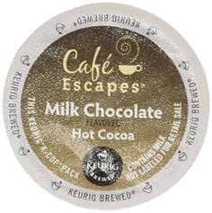 Cafe Escapes Milk Chocolate Hot Cocoa Keurig KCups 16 Count -- Learn more by visiting the image link. Note: It's an affiliate link to Amazon.