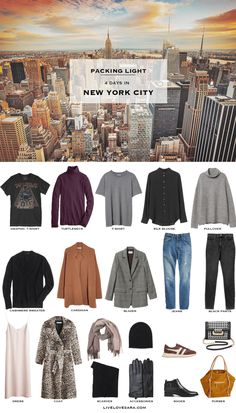 I got a last-minute plea for assistance in some ideas for what to pack for New York City in November. They are only spending 4 days in New York so this capsule wardrobe is a little more compact than usual. New York Outfits, City Outfits, Winter Outfits, Casual Outfits, New York Winter Outfit, Winter Travel Outfit, Winter Packing, Weekend Packing, Capsule Wardrobe