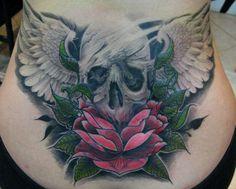 . Old Tattoos, Cover Up Tattoos, Tribal Tattoos, City Tattoo, Stomach Tattoos, Hummingbird Tattoo, Lower Back Tattoos, Tatting, Skull