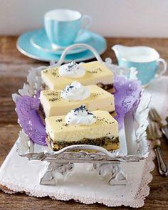 Vanille-Käsekuchen mit Aprikosen-Mohn-Creme Rezept