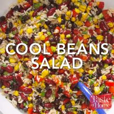 Cool Beans Salad Recipe The Effective Pictures We Offer You About bean salad recipes A quality pictu Bean Salad Recipes, Veggie Recipes, Mexican Food Recipes, Whole Food Recipes, Diet Recipes, Cooking Recipes, Healthy Recipes, 5 Bean Salads, Best Rice Salad Recipe