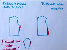 crafteln: Schnittmuster anpassen #5: Änderungen am Rückenteil