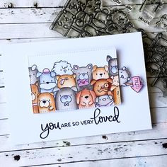 Dog Cards, Bird Cards, Mama Elephant Stamps, Interactive Cards, Funny Birthday Cards, Animal Cards, Scrapbook Cards, Scrapbooking, Cute Cards