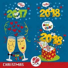 70% DESCUENTO Feliz año nuevo Clip art...Año nuevo Navidad
