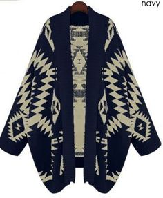 www.FashionPassionates $45 tribal print cardigan. I want one, it looks so cute an comfortable