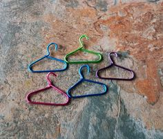 Miniture Coat Hangers, Set of 5, Dolls Furniture, Dolls, Dolls House, Minitures, Dolls Minitures, Fairy Garden, MIniture Accessories, ifts by SpryHandcrafted on Etsy