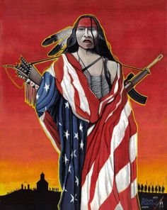 An indian warrior is called a heathen. An american warrior is a soldier.