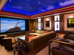 home theatre room design decoration