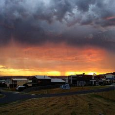 Apollo Bays Sunset  #apollobay #greatoceanroad #beach #summer #2016 #greatstart #familyvacation #holiday #sunset #yellow #orange #grey #warmcolours #sunset_pics #beautifulsky #heaven by whitney2510 http://ift.tt/1LQi8GE