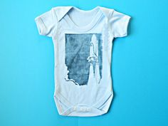 Space Shuttle Bodysuit. Baby Boy Clothes. Blue by ScienceInPrint