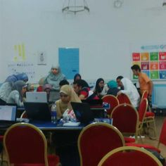 Open coders developing 1st app at the Open Code 4 Sustainable Dev. Camp. #Egypt #SocialGood #2030Now