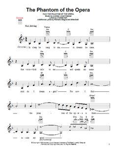 phantom of the opera sheet music - Google Search