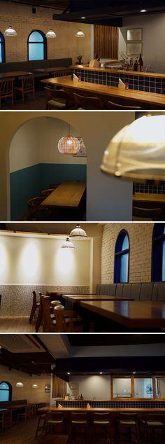 [No.356 코지마] 모던하게 풀어낸 일본 이자카야 가정식 전문점 인테리어 Modern Japanese yakitori Izakaya restaurant