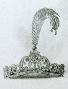 The Duchess of Newcastle's 'feather tiara', consisting of a normal diamond tiara, with an added jewelled plume.