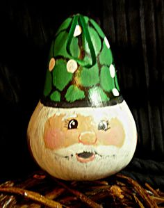 Fun Gnome Ornament or Decoration Hand Painted on a Gourd  by ana90, $7.50