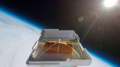 Liked on YouTube: We Sent Garlic Bread to the Edge of Space Then Ate It