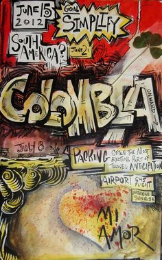 Colombia |  Travel Artwork Around The World With Eric Olmstead