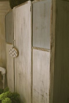 See a milk painted armoire at perfectly imperfect