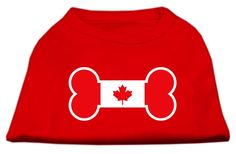 Mirage Pet Products Bone Shaped Canadian Flag Screen Print Shirt >>> Unbelievable dog item right here! : Dog shirts