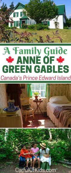 Visit the Anne of Green Gables house on Canada's Prince Edward Island. See the house, walk along Lovers Lane and drink a Raspberry Cordial with your kids. Got all the details to plan your getaway to the Maritimes. Best Travel Books, Literary Travel, Travel With Kids, Family Travel, Family Trips, Family Vacations, Best Travel Insurance, Best Greenhouse, Prince Edward Island