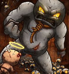 Isaac VS Ultra Greed by Sawuinhaff.deviantart.com on @DeviantArt