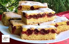 Receptek, és hasznos cikkek oldala: Meggyes piskótás linzer szelet Cakes And More, Cornbread, Tiramisu, Banana Bread, French Toast, Cheesecake, Breakfast, Ethnic Recipes, Sweet