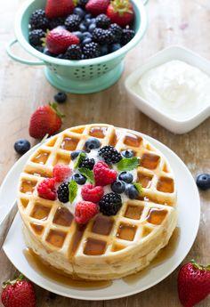Greek Yogurt Waffles on chefsavvy.com