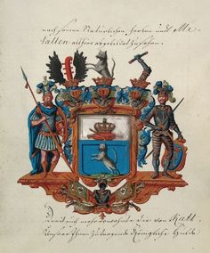 Wappen der Grafen von Katte / Coat of Arms of The Counts von Katte / Armas de los Condes von Katte
