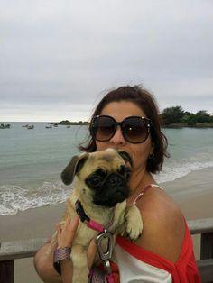 Audrey levando a mãe pra passear
