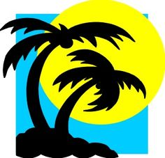 All Free Original Clip Art - Free Clipart Images - palm_trees. Palm Tree Sunset, Palm Trees, Palm Tree Clip Art, Shell Island, Have A Great Vacation, Tree Wallpaper, Free Graphics, Lord, Fantasy
