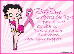 This is perfect and close to my heart. My Godmother passed from Breast Cancer and she loved Betty Boop!