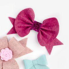 Round Felt Bows! Hair Bow and Ribbon Tutorials | Ribbon And Bows Oh My!