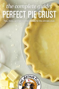 Making a flaky, tender, flavorful pie crust is every baker's dream. Find the tips, recipes,… Pie Crust Recipes, Tart Recipes, Pie Crusts, Köstliche Desserts, Dessert Recipes, Plated Desserts, Tapas, Perfect Pie Crust, Sweet Pie