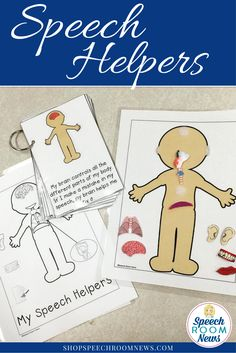 This speech helpers mini book and poster set is the perfect way to start speech therapy at the beginning of the year or with a new client. It reviews the parts of the body used in speech in a a kids friendly way! Love the coloring sheet too!