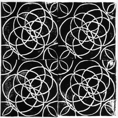 Block print pattern by Joan McGuire
