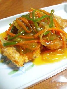 鯖(青魚)と野菜の甘酢あんかけ