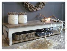 Maatwerk! Landelijke salontafel Queen Ann/ Old wood