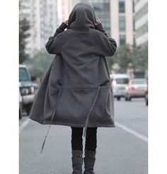 RAMIES/ Free Style Zipper Hoodie Jacket with Cotton di Ramies