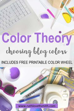 Color theory can help you in choosing your blog color scheme and creating a blog color palette. Learn more about color theory, and download a free printable color wheel. #colortheory #colorwheel #freeprintable #printables #bloggingtips
