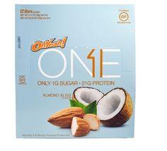 One Bar, Almond Bliss, 12 Protein Bars, 2.12 oz (60 g) Each Gluten Free  #ohyeah