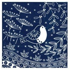 After designing and printing a christening gift for my newest niece, I have been inspired to create a collection of lino prints featuring woodland creatures. Each design is named after one of my children, nieces or nephews. This design is part of my Christmas collection 2016 Each print is