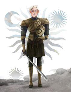 Brienne of Tarth from GAME of THRONES (Song of Ice and Fire) by Leann Hill Arte Game Of Thrones, Game Of Thrones Facts, Game Of Thrones Series, Game Of Thrones Quotes, Game Of Thrones Funny, Cersei Lannister, Brienne Von Tarth, Daenerys Targaryen, Sansa Stark