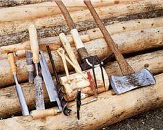 Dick Proenneke's cabin building tools.