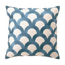 Scales Embroidered Throw Pillow