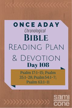 Once A Day Bible Reading Plan  Devotion Day