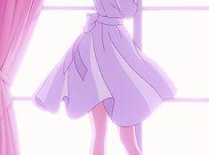 and anime, manga, and video game fashion! Aesthetic Gif, Pink Aesthetic, Aesthetic Wallpapers, Anime Gifs, Anime Art, Casa Anime, Applis Photo, Poses References, Old Anime